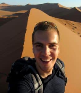 Селфи в пустыне Намиб.