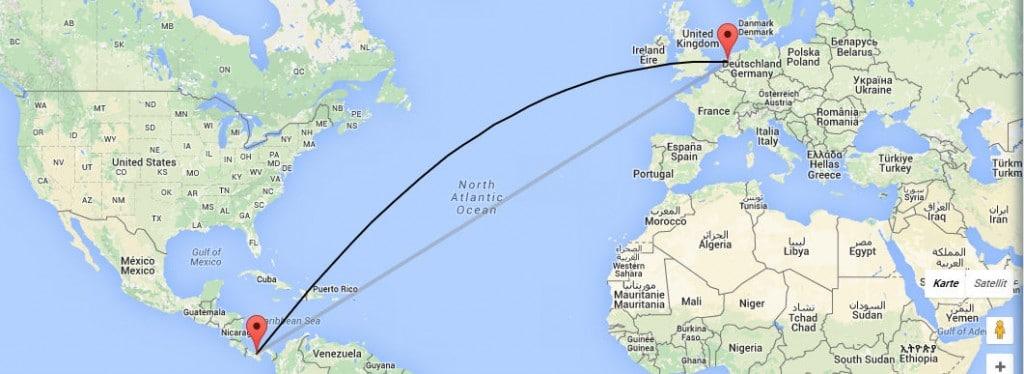 Rund 9000 Kilometer liegen zwischen Amsterdam und Panama. Elf Stunden dauerte der Flug.