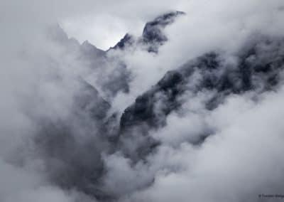 Mystische Szene in den Anden.