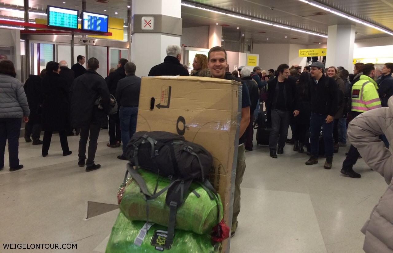Ankunft in Berlin.