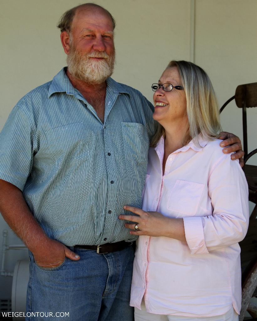 Seit 28 Jahren verheiratet, seit 18 Jahren Farmbesitzer: Jan Petus und Hester.